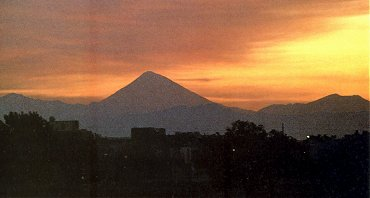 Mount Damavand from southwest of Tehran